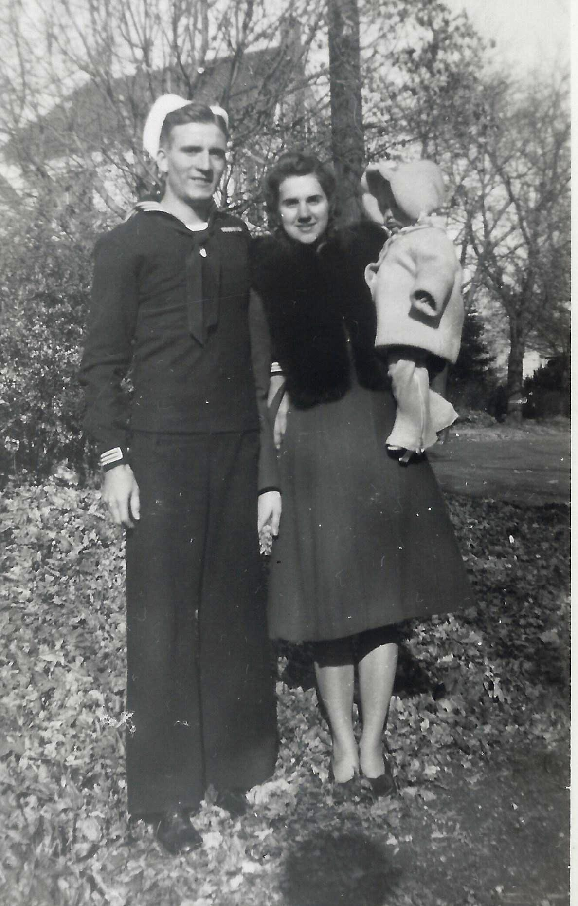 Emerson Luhman and spouse Mattie in 1944 with daughter Joyce—Matthew Stone's mother. (credit: Mattie Hudock)
