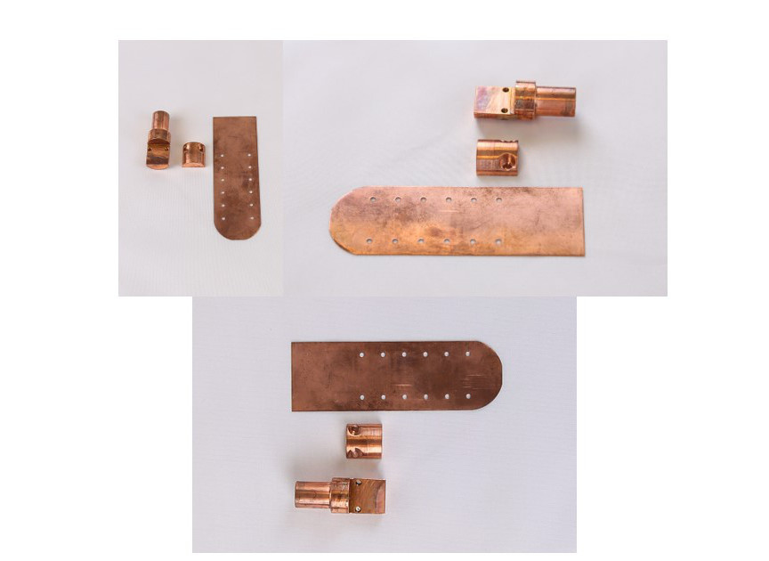 Copper blade with Copper halves for Dilution Refrigerator and 3Helium Insert Single Crystal Experiments​