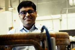"""""""The question I ask myself is how we can make uncertainty our friend instead of our enemy. That's what inspires me to do research, to make the unknown known.""""—Arnab Banerjee (Image credit: ORNL/Butch Newton)"""