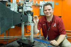 Luke Brewer, Associate Professor at the University of Alabama Department of Metallurgical and Materials Engineering, is using the Neutron Residual Stress Mapping Facility, HFIR beam line HB-2B, to study a metal powder application that he and his colleagues at the Naval Air Systems Command are interested in using for corrosion protection and additive repair of aircraft structures.