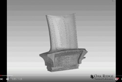 Neutrons Image Additive Manufactured Turbine Blades in 3-D