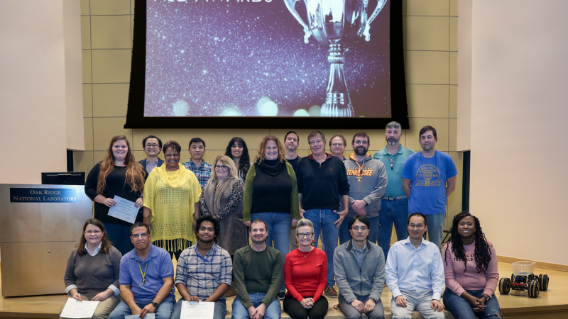 "Winners at the inaugural Neutron Scattering Division awards were recognized as the ""best of the best"" in neutron science and support. Credit: ORNL/Genevieve Martin"