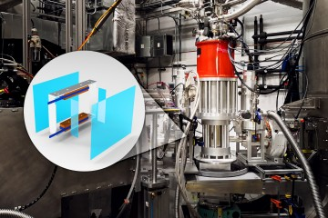 The spherical neutron polarimetry device features enhanced superconducting technology, coupled with an improved cooling system, adding new capabilities to US research by enabling the study of exotic magnetic phenomena in new dimensions. (Credit: ORNL/Peter Jiang, Genevieve Martin)